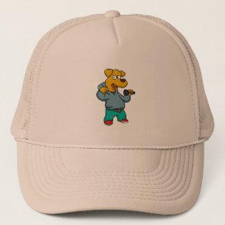 Yellow dog rapper trucker hat