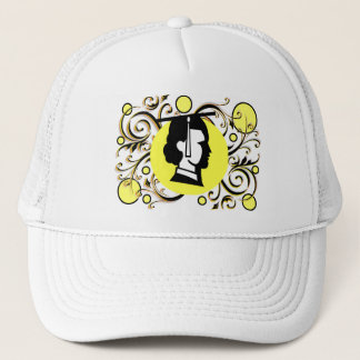 Yellow Dot Flourish Graduate Cap