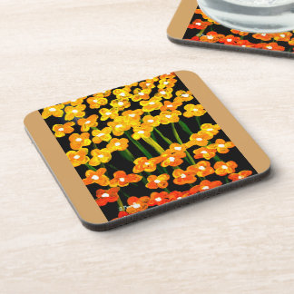 Yellow Dot Flow Coasters For Favorite Beverages