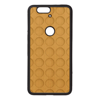Yellow Dot Pattern Wood Nexus 6P Case