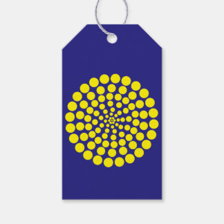 YELLOW DOT PRINT. CUSTOMIZABLE BACKGROUND COLOUR. GIFT TAGS