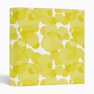 Yellow Dots 3 Ring Binders