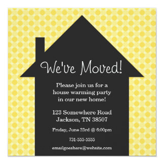 Yellow Dots House Warming Party Invitations