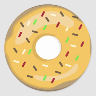 Yellow Doughnut Sticker