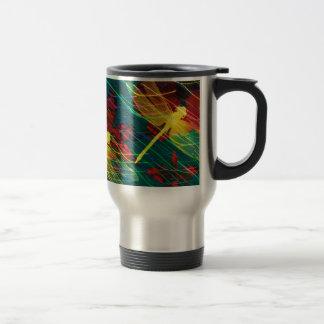 Yellow Dragonflies Colours Travel Mug
