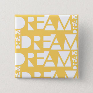 Yellow Dream Geometric Cutout Design 2 Inch Square Button