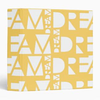 Yellow Dream Geometric Cutout Design Binders