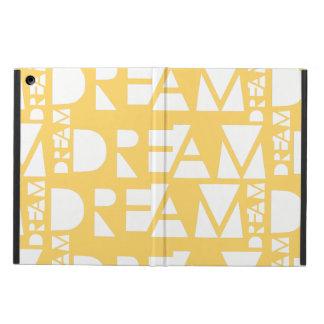 Yellow Dream Geometric Cutout Design iPad Air Cover