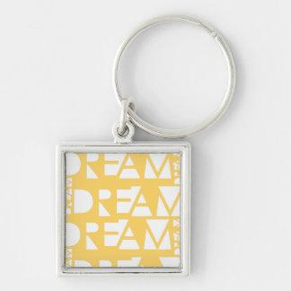 Yellow Dream Geometric Cutout Design Keychain