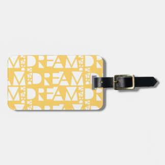 Yellow Dream Geometric Cutout Design Luggage Tag