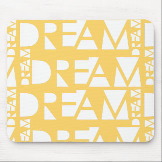 Yellow Dream Geometric Cutout Design Mouse Pad