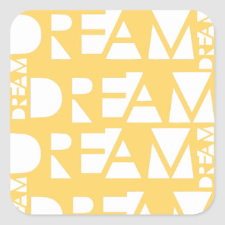 Yellow Dream Geometric Cutout Design Square Sticker