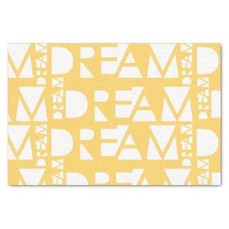 Yellow Dream Geometric Cutout Design Tissue Paper