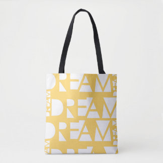 Yellow Dream Geometric Cutout Design Tote Bag