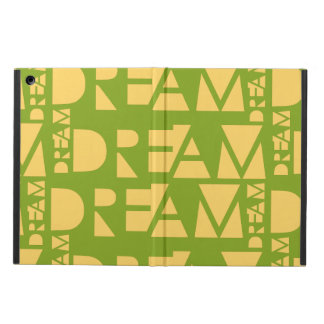 Yellow Dream Geometric Shaped Letters iPad Air Case