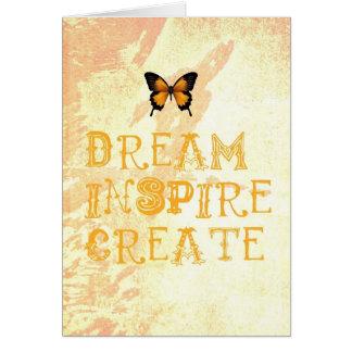 Yellow Dream, Inspire, Create Card