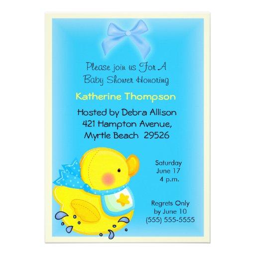 yellow duck baby shower invitation zazzle