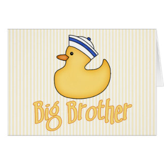 Yellow Duck Big Brother Note Card