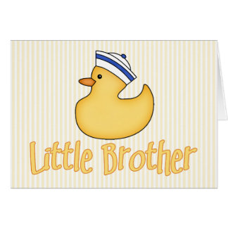 Yellow Duck Little Brother Note Card