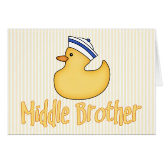Yellow Duck Middle Brother Note Card