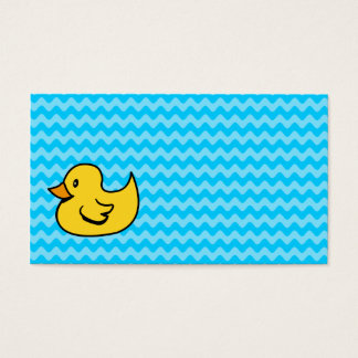 Yellow Duck on Aqua Waves Business Card