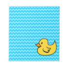 Yellow Duck on Aqua Waves Notepad