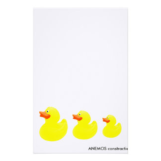 yellow ducks stationery