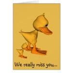 Yellow ducks we miss you greeting card