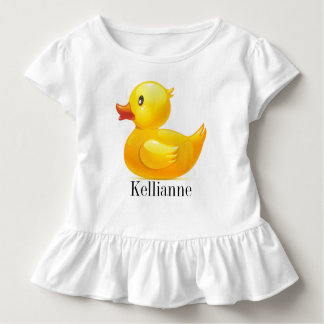 Yellow Ducky Tot shirt with Ruffles