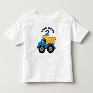 Yellow Dump Truck Birthday Shirt