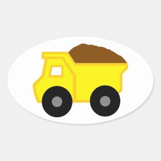 Yellow Dump Truck Sticker
