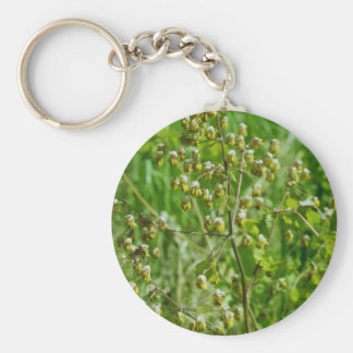 yellow Early Meadow-Rue (Thalictrum Dioicum) flowe Keychain