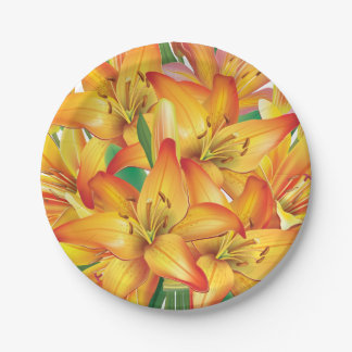 Yellow Easter Lilies Paper Plate