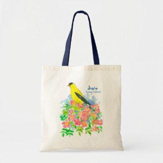 Yellow Eastern Goldfinch State Bird of Iowa Tote Bag