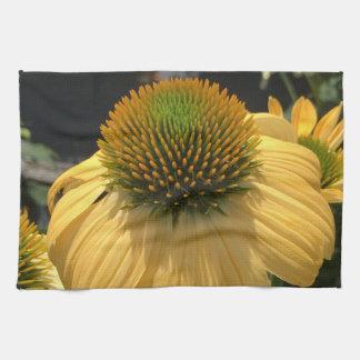 Yellow Echinacea Kitchen Towel