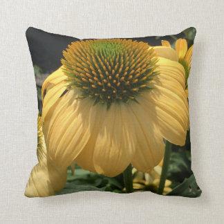 Yellow Echinacea Throw Pillow