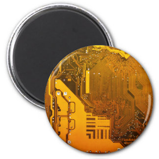 yellow electronic circuit board.JPG Magnet