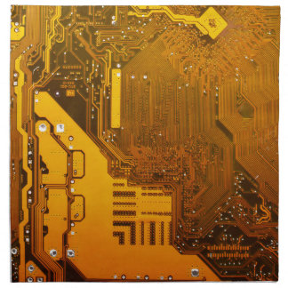 yellow electronic circuit board.JPG Napkin