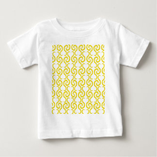 Yellow elegant pattern baby T-Shirt