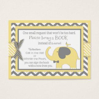 Yellow Elephant Bird Bring a Book Card