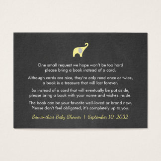 Yellow Elephant Book request / books for baby Business Card
