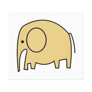 YELLOW ELEPHANT CANVAS PRINT