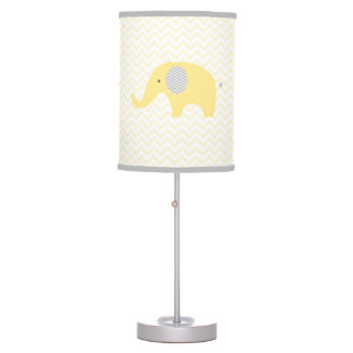 Yellow Elephant Chevron Nursery Lamp
