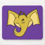 Yellow Elephant Mousepad