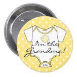 Yellow Elephant With Polka Dots I'm The Grandma 3 Inch Round Button