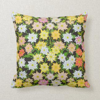 Yellow English Garden Floral Pillow