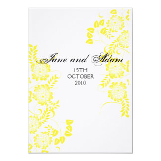 yellow EVENING INVITE