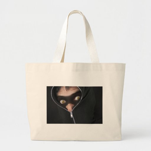 Yellow-Eyed Bandit Canvas Bags