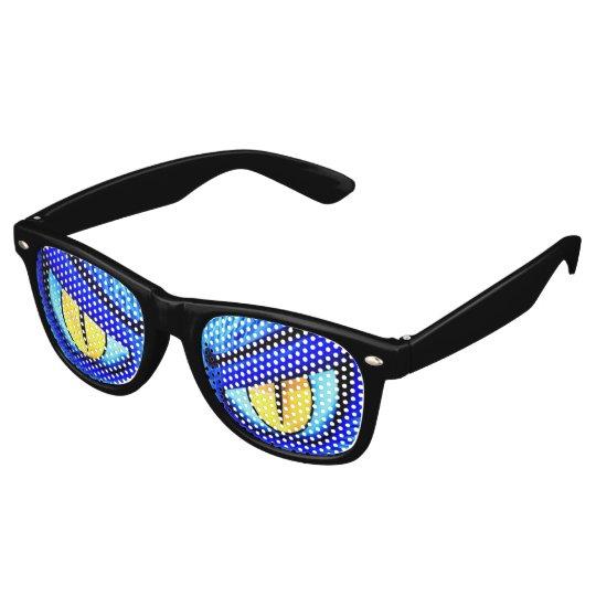 Yellow Eyed Monster Retro Sunglasses