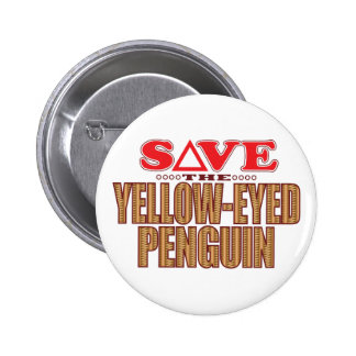 Yellow-Eyed Penguin Save 2 Inch Round Button